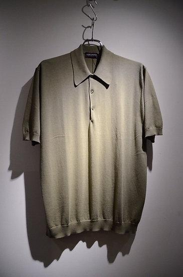 John Smedley Cotton WHITWORTH Polo Shirts Khaki ジョンスメドレー シーアイランドコットン ポロシャツ