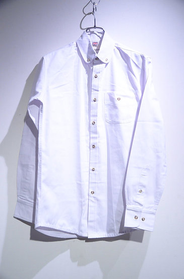 Grove & Co Cotton Rounded Collar B.D. Shirt SMALL Made in UK グローブ&コー ラウンドカラー シャツ
