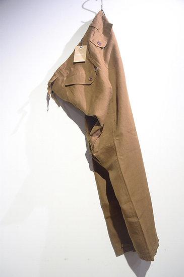 HAAR SCOTLAND Linen Fatigue Loose Tapered Pants BRW ハースコットランド リネン ファティーグパンツ