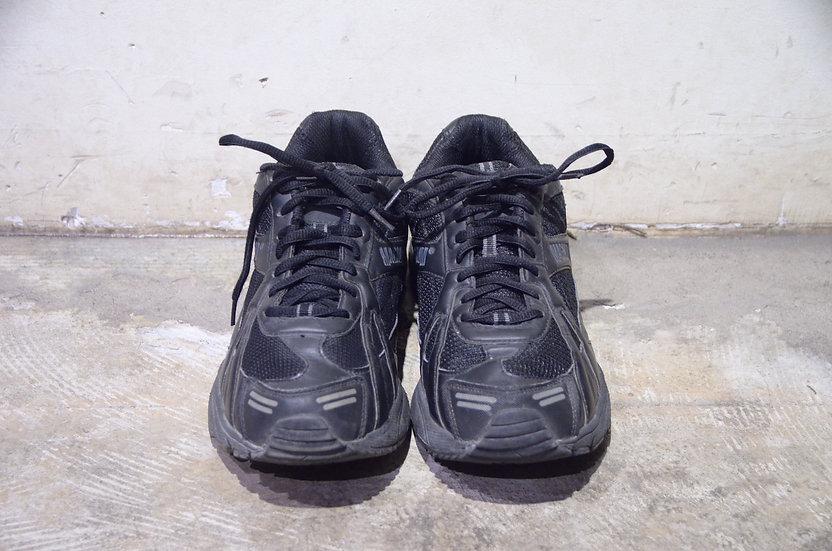 Used British Army Fitness Training Shoes Magnum Black イギリス軍 マグナム ブラック レザー スニーカー