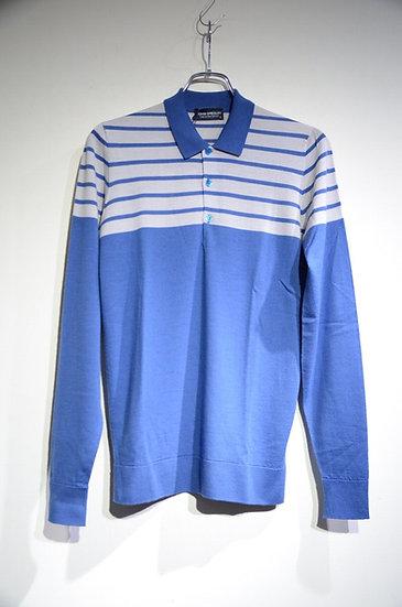 John Smedley Fisher Stripped Wool polo Shirts ジョンスメドレー ウールポロシャツ