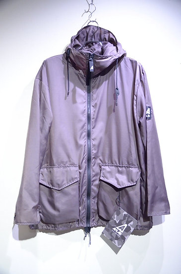 Ark Air RAIN UNLINED JACKET GRAY Made In ENGLAND アークエアー ポケッタブル ナイロンジャケット