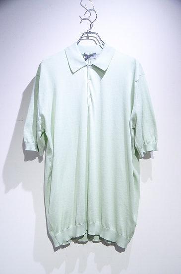 John Smedley Cotton Whitworth Polo Shirts Green  ジョンスメドレー シーアイランドコットン ニットポロシャツ