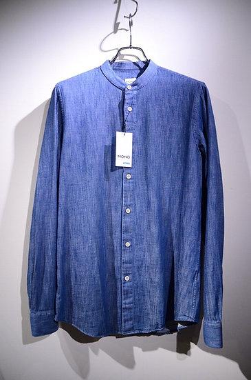 モノプロジェクト バンドカラーシャツ シャンブレー