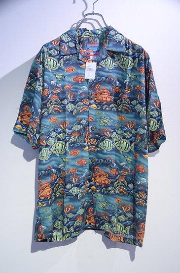 DEADSTOCK Vtg Reyn Spooner Joe Kealoha Hawaiian Shirt Made In USA レインスプーナー 開襟シャツ