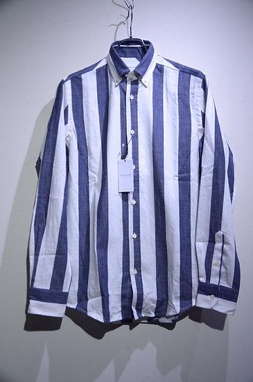 Tripl Stitched Denim Stripe B.D. Shirt Made in London トリプルステッチ デニムストライプ BDシャツ