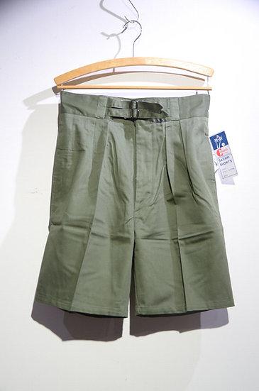 DEADSTOCK 80s Commando Australia Cotton Twill Belt Shorts OLV オーストラリア軍レプリカ ショーツ
