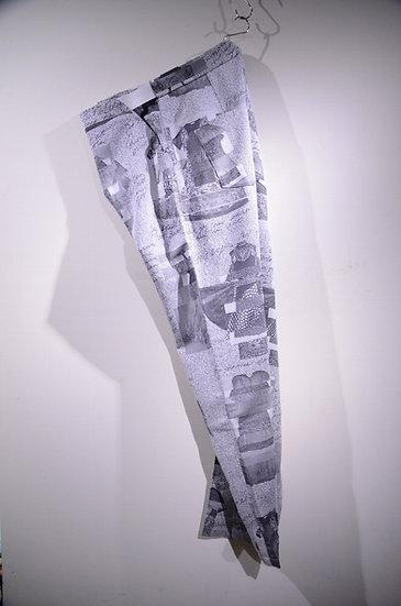 HAiK ハイク パンツ テーパードパンツ 総柄 柄 ジャガード デザイン ファッション イージーパンツ