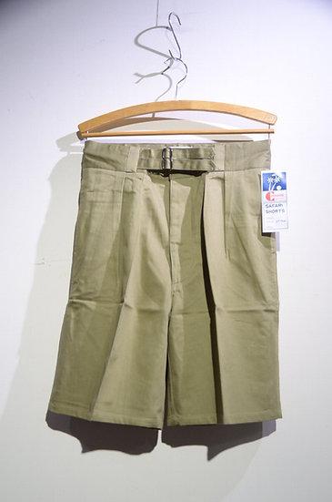 DEADSTOCK 80s Commando Australia Cotton Twill Belt Shorts BGE オーストラリア軍レプリカ ショーツ