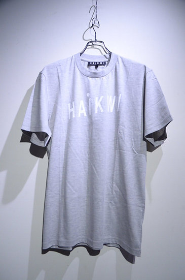 HAiK w/ Logo T-shirts Gray Made in Lithuania ハイク ウィズ アス ロゴTシャツ