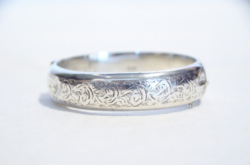 1955s Vintage British Silver Bangle Made in ENGLAND Joseph Smith ヴィンテージ シルバーバングル