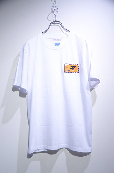 BEE Outerwear  Bird Embroidery T-shirt Made in UK ビーアウタ-ウェア 鳥 スケーター 刺繍  Tシャツ