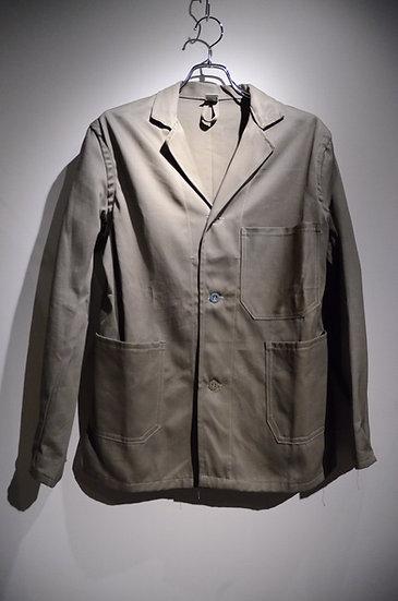 ヴィンテージ ツイルコットン フレンチワークジャケット オリーブ