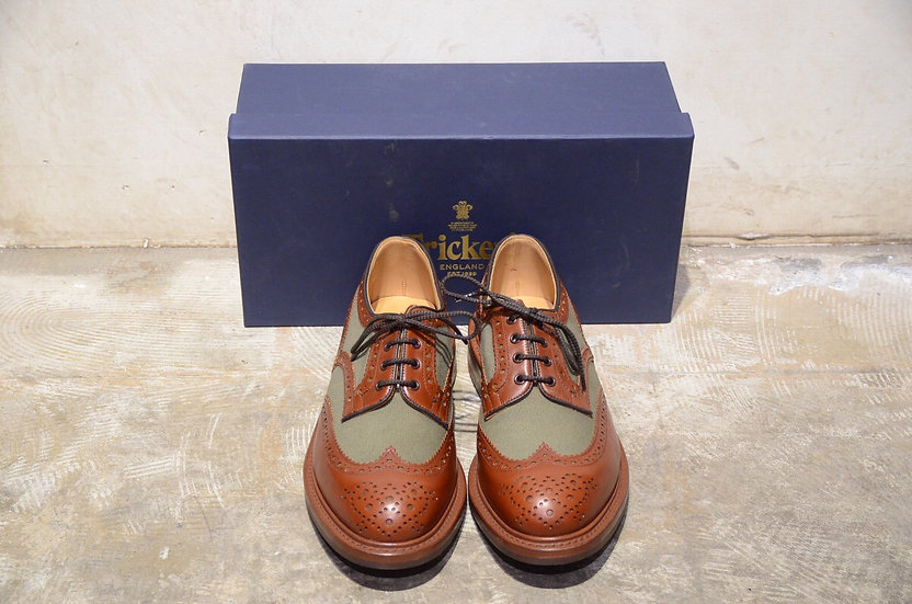 Tricker's Bowood Two Tone Brouge Shoes Brown Made in England トリッカーズ コンビ シューズ