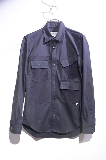 HAAR SCOTLAND Multi Pocket Shirt BLK Made in Scotland ハースコットランド  マルチポケット シャツ