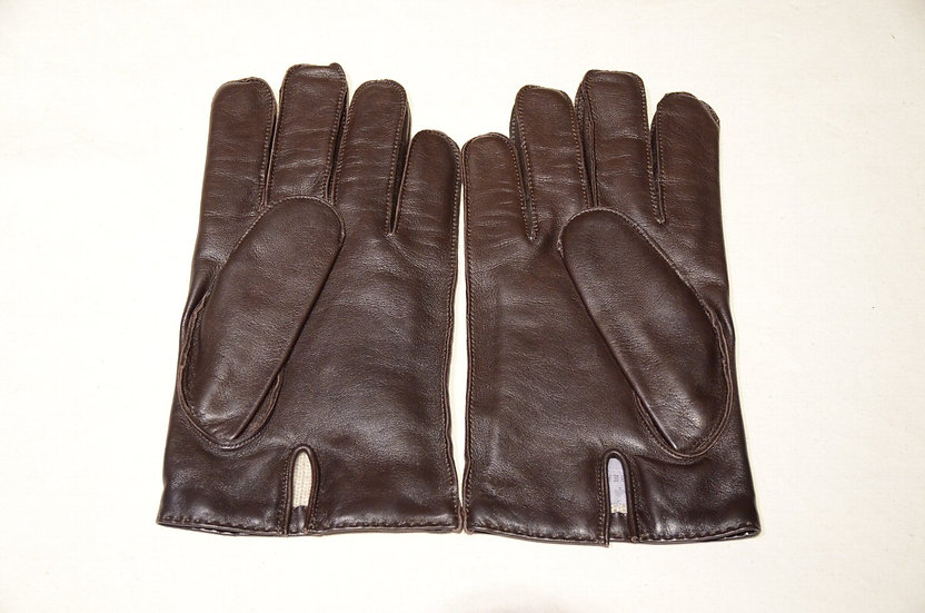 MULBERRY By DENTS Sheep Skin Gloves Cashmere Lining made in England マルベリ レザーグローブ