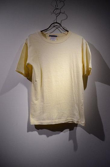 レディース コットン ペールトーン ファッション イギリス製 Tシャツ カットソー イエロー
