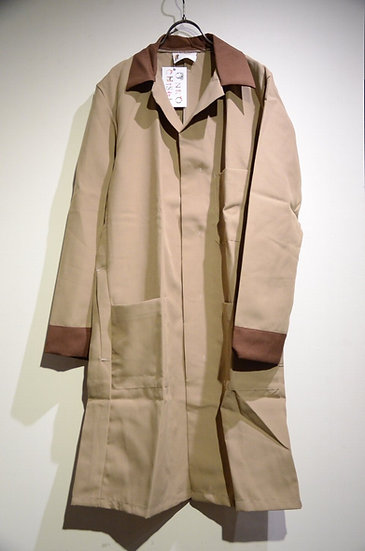 DEADSTOCK 70s Vintage Work Coat Brown Made in UK イギリス ポリエステルワークコート