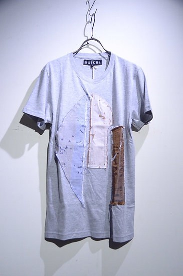 HAiK w/ Patch Work Design T shirt Small Made in Lithuania ハイク ウィズアス  パッチワーク Tシャツ