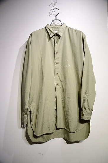 50s Vtg British Army Banner Cotton poplin Shirts Made in England イギリス軍 シャツ