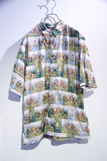 Used 90's GUY BUFFET By Reyn Spooner Hawaiian Shirt Made In Hawaii レインスプーナー 柄シャツ