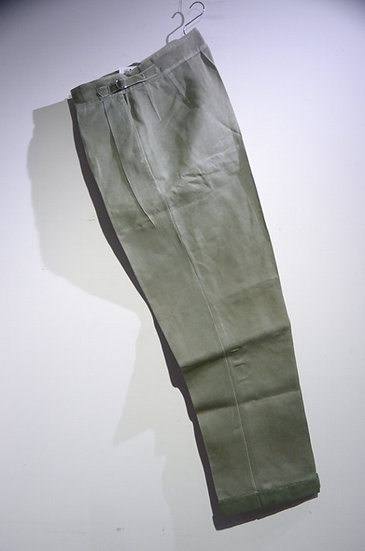 Vintage 1940's British Army Jungle Green Trousers Local Made イギリス軍 ジャングルトラウザース