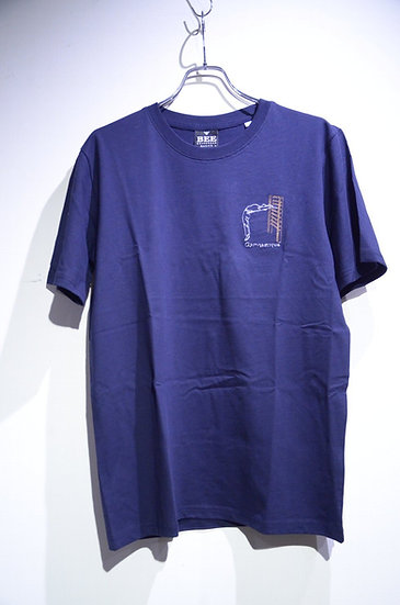 BEE Outerwear Gymnastics NAVY T-shirt Made in UK ビーアウタ-ウェア コットン  体操 刺繍  Tシャツ