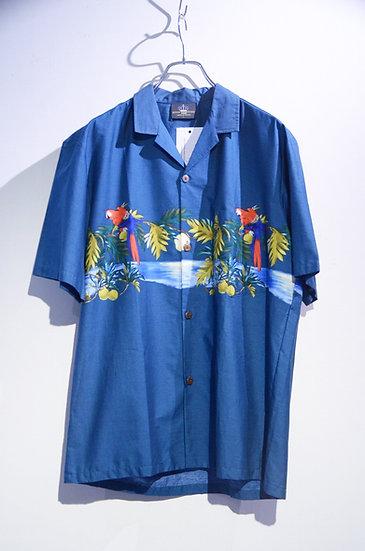 USED 90's Royal Creations Parrots Print Shirts Made In Hawaii ヴィンテージ プリント 開襟シャツ