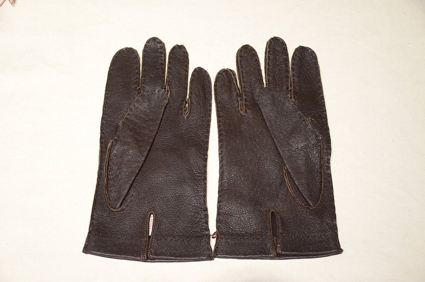 DENTS Peccary Leather Gloves Unlining DarkBrown made in UK デンツ ペッカリー レザーグローブ
