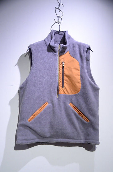 BEE Outerwear BOA FLEECE VEST GRAY Made in London ビーアウターウェア ボアフリースベスト