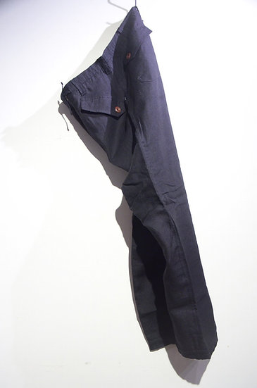 HAAR SCOTLAND Linen Fatigue Loose Tapered Pants BLK ハースコットランド リネン ファティーグパンツ
