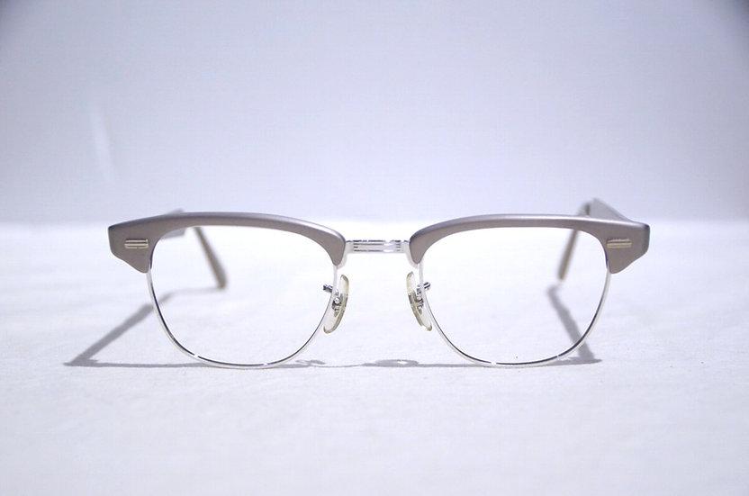60s Vintage US Optical glasses Made in USA ヴィンテージ ユーエスオプティカル ハーフリム 眼鏡
