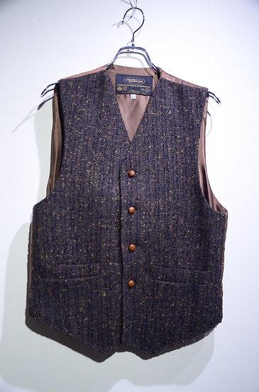 Studio Donegal Wool Tweed Vest Made in  Ireland スタジオドネガル ウールネップツイード ベスト