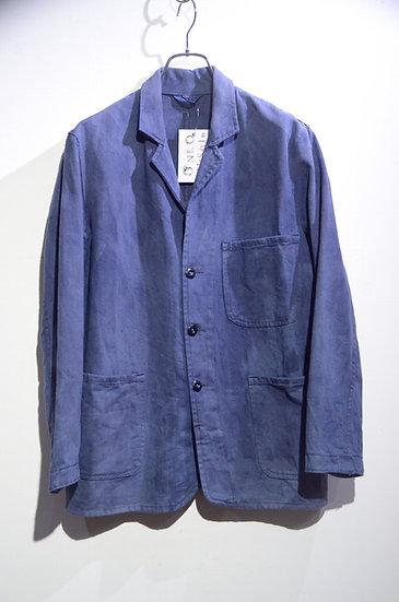 60s Vintage British Work Over Dye Blue Jacket Made in UK オーバーダイ エンジニア ワークジャケット