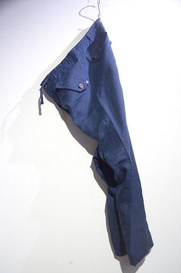 HAAR SCOTLAND Linen Fatigue Loose Tapered Pants NV ハースコットランド リネン ファティーグパンツ