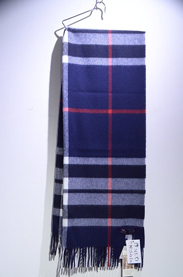 MOON Merino Lambswool Muffler NAVY Made in The UK ムーン ネイビー ラムウールマフラー