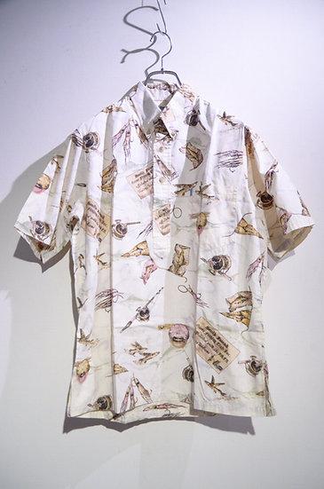 USED 90's Kahala Marlin Flying Fish Print Shirts Made In Hawaii ヴィンテージ  半袖シャツ