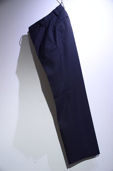 British Transport Police BLK Heavy Wool Trousers Made in UK イギリス鉄道警察 ブラック スラックス