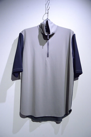 HAiK w/ Poly Half Zip Neck Tshirt A Made in Lithuania ハイク ウィズアス ポリハーフジップ Tシャツ