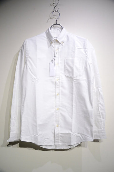 Tripl Stitched Button Down Shirt White Oxford Made in London トリプルステッチ オックスフォード