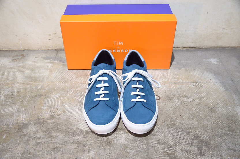 Grenson Tim Little Nuback Leather Sneaker Blue Made in Italy グレンソン ヌバックスニーカー