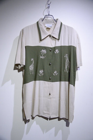 USED Vintage Poly Rayon Blend Pride & Joy Shirts Made In USA ヴィンテージ レーヨン 刺繍 シャツ