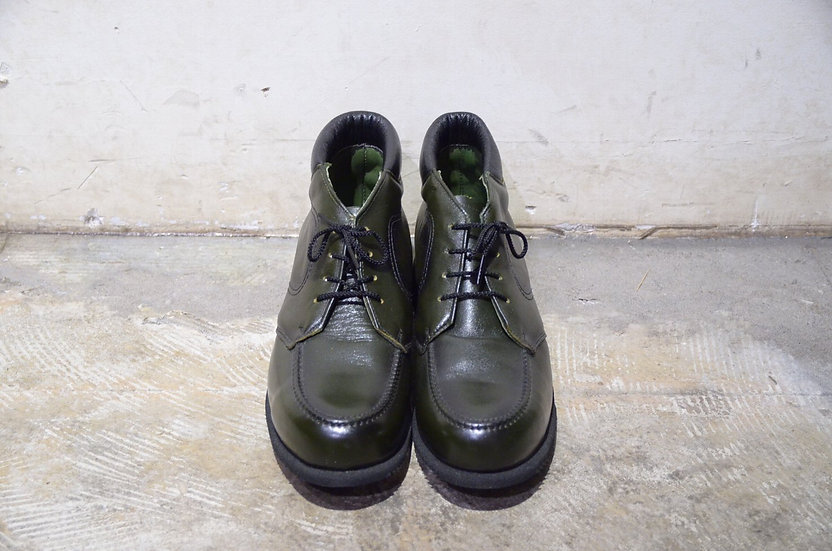 80 - 90s Vtg Browning Arms Co Green Leather Boots Made IN USA グリーンレザー ブーツ