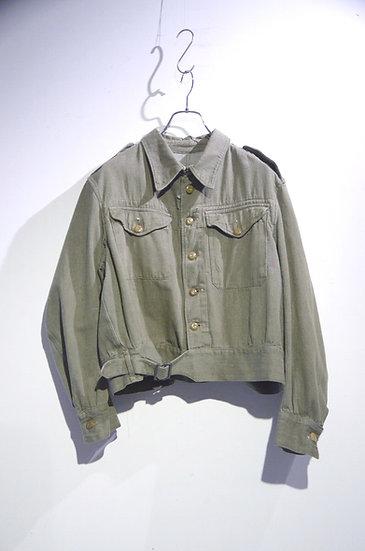 Used Vintage 1950's British Military GREEN DENIM Jacket イギリス軍 グリーンデニム ジャケット