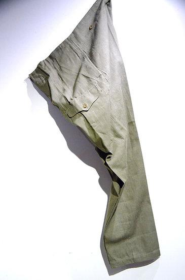 DEADSTOCK 1955 British Army GREEN DENIM Size 10 Trousers イギリス軍 グリーンデニム トラウザース