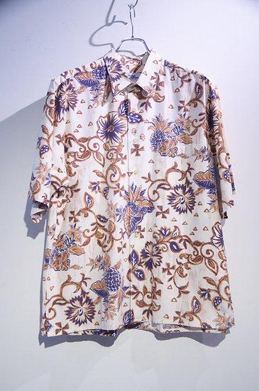 Used 00's Reyn Spooner Pine Flower Print Shirt Made In Korea レインスプーナー プリントシャツ