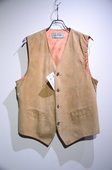 Used Vtg 60 - 70s L.L. Bean Suede leather Vest LLビーン スウェードレザーベスト