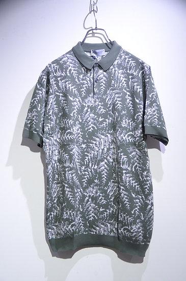 John Smedley Sea Island Cotton KIMBALL Polo shirt ジョンスメドレー ニット 柄 ポロシャツ