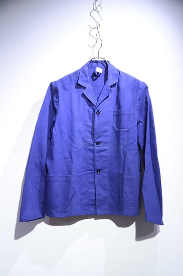 60s Vintage Dead Stock Euro Work Blue Jacket Made in Euro インクブルー ユーロワークジャケット
