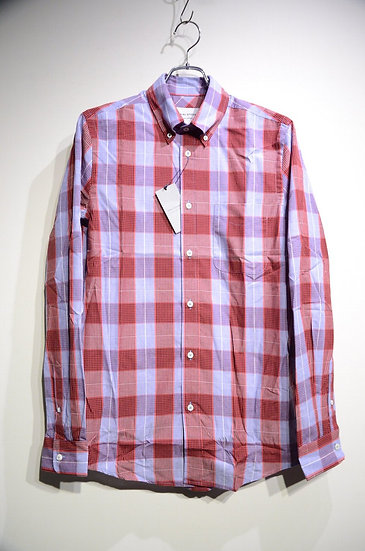 Tripl Stitched Button Down Red Blue Check Shirt Made in London トリプルステッチ チェックシャツ